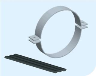 Хомуты изготовлены из оцинкованной стали и соответствуют стандарту SSG 7075. Они предназначены для крепления трубопроводов или труб на опорных балках. Доступны различных размеров, необходимый подберут наши менеджеры.   Крепление следует устанавливать каждые 1000-1500 мм на вертикальных и горизонтальных прямых участках. Изогнутые участки рекомендуется закреплять более плотно.  Для крепления футерованных резиной стальных труб в качестве прокладок используются уплотнительная резиновая лента (SH-489245).   Подробная информация: 🔶 yugminerals.ru ☎️ 8 960 487 55 55